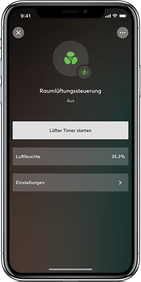 Smart Home Nord Loxone Lüftung App