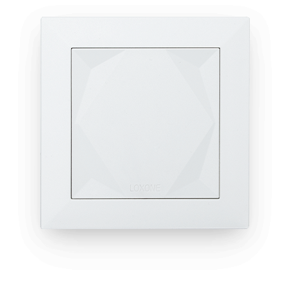 Smarthome Nord Loxone Touch Weiß front
